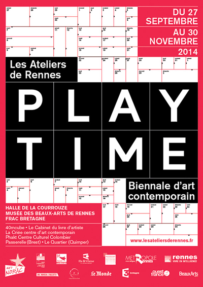 KOKI TANAKA : PLAY TIME Contemporary art biennale, 4th edition   (Les Ateliers de Rennes – biennale d'art contemporain, France)